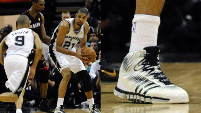 Tim Duncan in the adidas Crazyquick