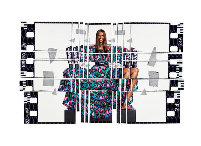 Supermodel Iman in the H&M x Kenzo campaign