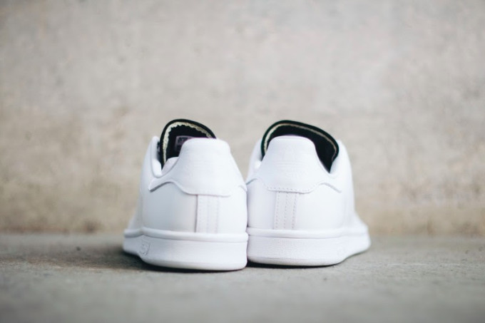 Adidas Stan Smith White/Black Heel S80019