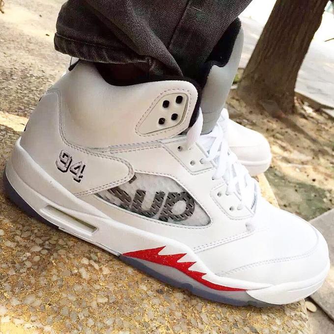 Supreme and Air Jordan White Colorway