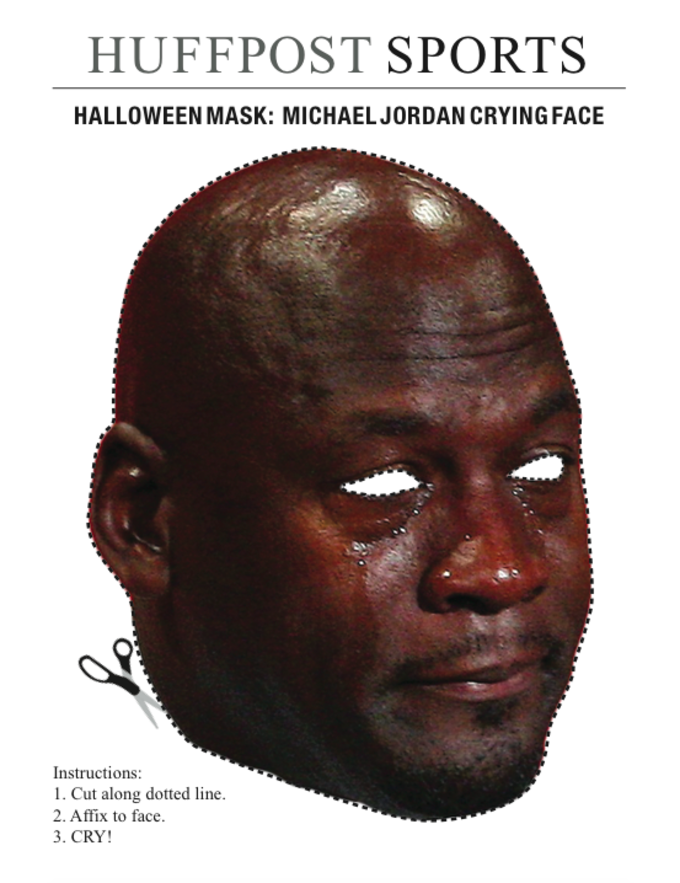There Is Now A Cutout Michael Jordan Crying Face