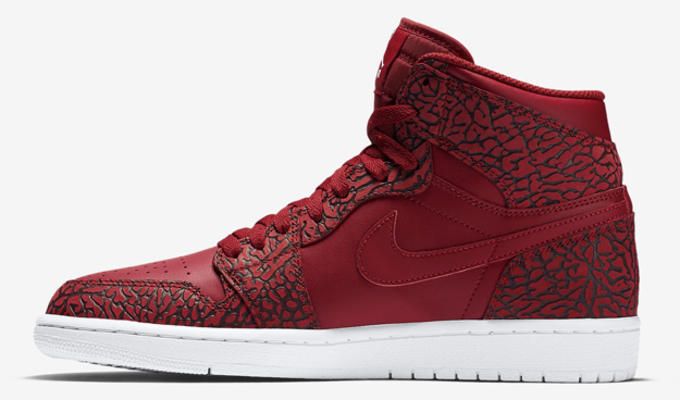 59c3791fa5b ... 839115 600 nike air jordan 1 retro high white gym red elephant print men  sh 358e3 039b4; low price with an all red upper that features the famous ...
