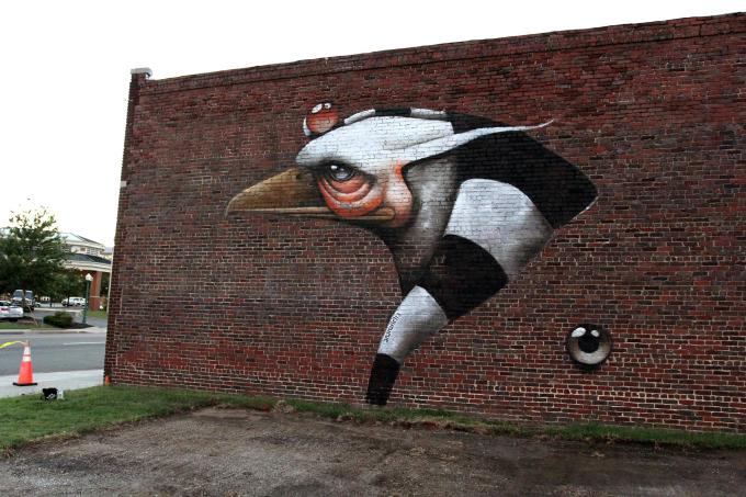 Completed mural by Ana Maria  Image via StreetArtNews