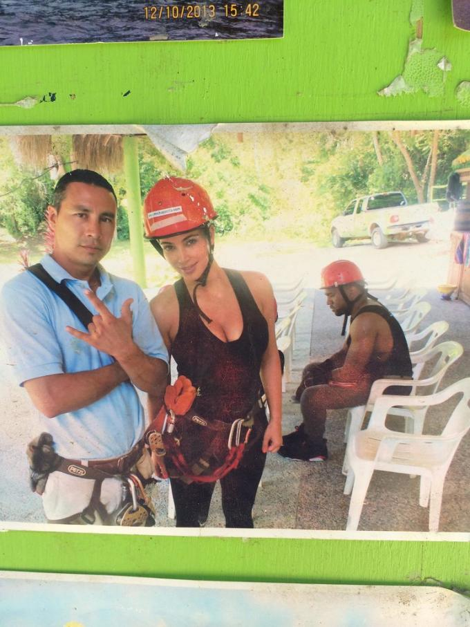 Kanye's RBF While Zip Lining In Mexico/ via Imugr