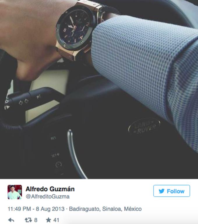 Alfredo wears a Hublot Big Bang Gold Ceramic 44mm, worth 27,700 euros