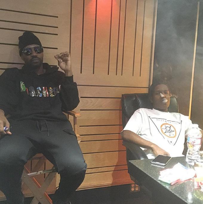 Juicy J And ASAP Rocky Studio Photo