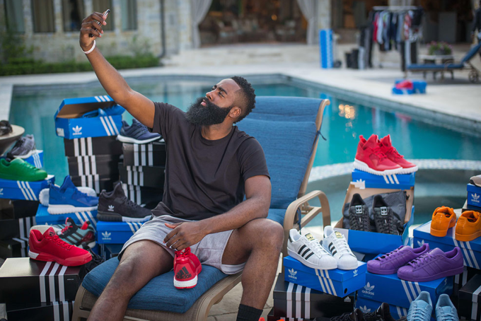 990125aa51138 James Harden being delivered adidas sneakers