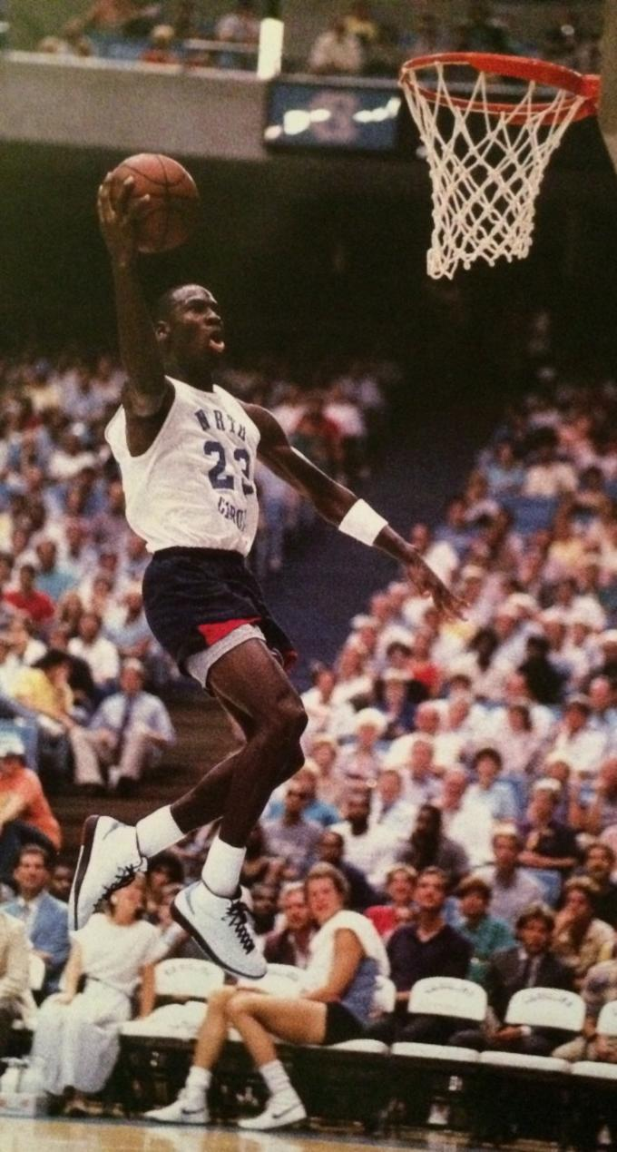 497a76cf0545 ... Pro Alumni basketball game in September of 1986 when be broke out the  first of its kind PE in the form of these Carolina blue-accented Air Jordan  IIs.