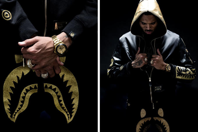 Chris Brown Stars In The New Lookbook For A Bathing Ape S Premium