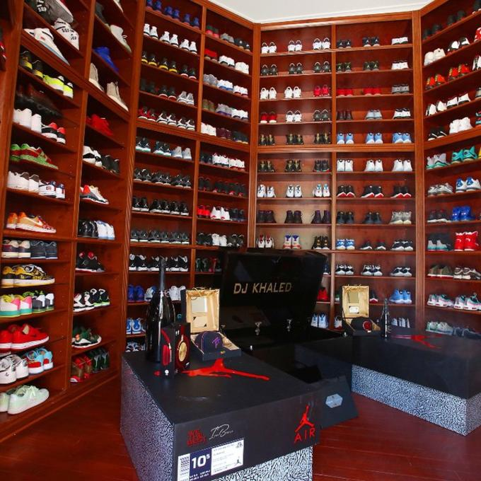 low priced c9820 0c664 DJ Khaled Just Remodeled His Sneaker Room and It s Absolutely Insane    Complex