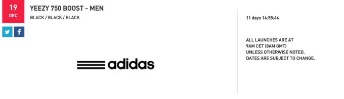new style 3e10e 5eb85 We ll let you know once we hear the official word from adidas, but unless  something changes drastically, this is the date to save. Retail is  350.
