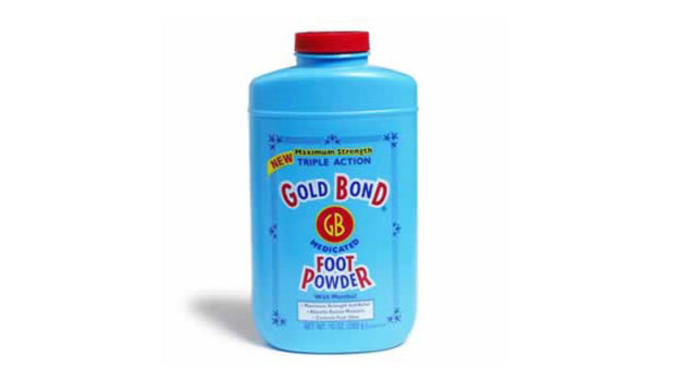 Foot powders help keep things dry and bacteria-free