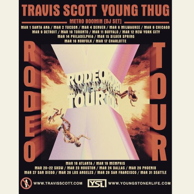 4d3ad9327356 Travi$ Scott Announces Rodeo Tour With Young Thug and Metro Boomin ...