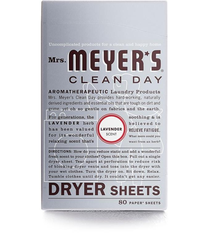 Dryer Sheets. Think of these as Febreze in paper form/ via Mrs. Meyers