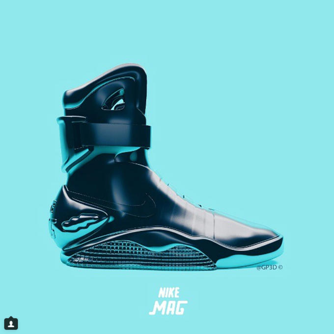 047928df599a Rendering the Nike Air Mag in an Iron-Man motif