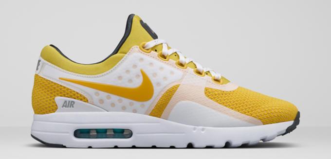 air max zero yellow white