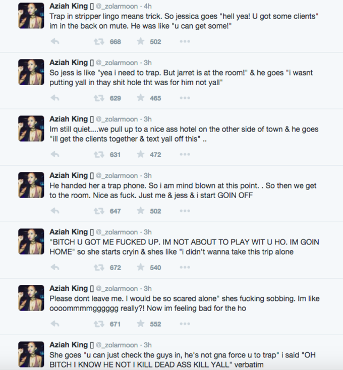 Zola's Twitter Story of Stripping and Murder Is the Best