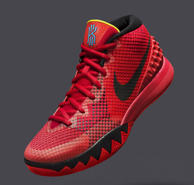 """new style 9eac5 95c9a Look out for the Kyrie 1 """"Deceptive Red"""" to drop on Saturday January 10 at  8 a.m. on Nike.com, for  110."""