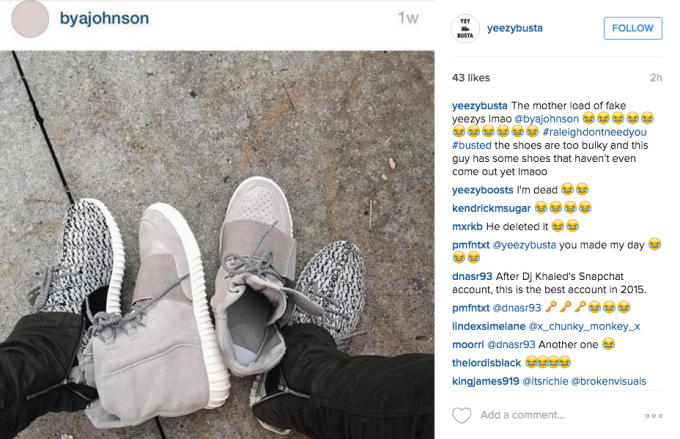 Yeezybusta on Instagram Exposes Fake Yeezy Owners. | Complex