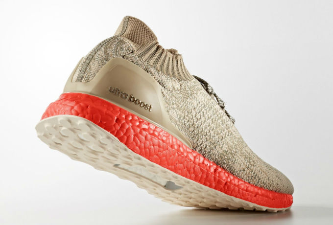 Adidas Ultra Boost Uncaged Tan/Solar Red Lateral S82064