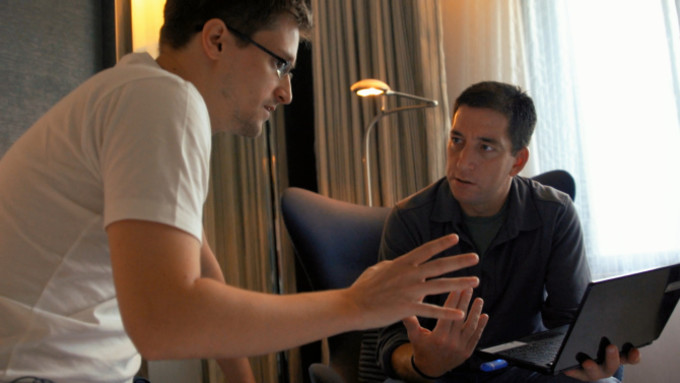 Snowden with Glenn Greenwald