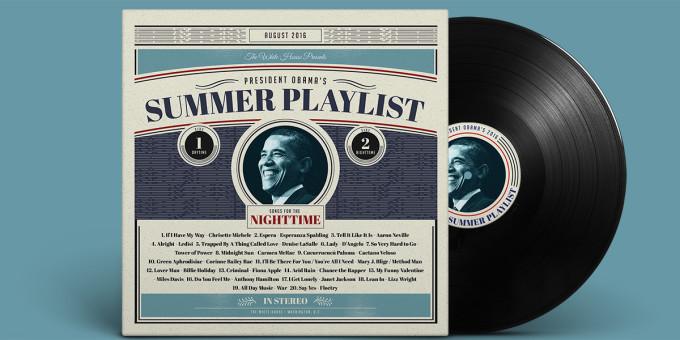 President Obama Summer Playlist 2016 Nighttime Cover