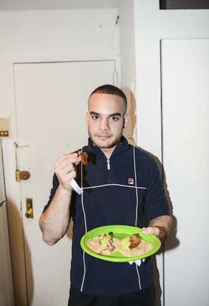Chef Phillip Basone hosts dinner for friends at his home in New York, November 2016.