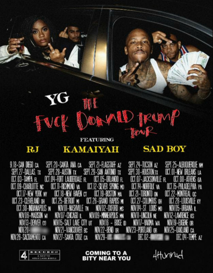 This is a flyer for YG's tour.
