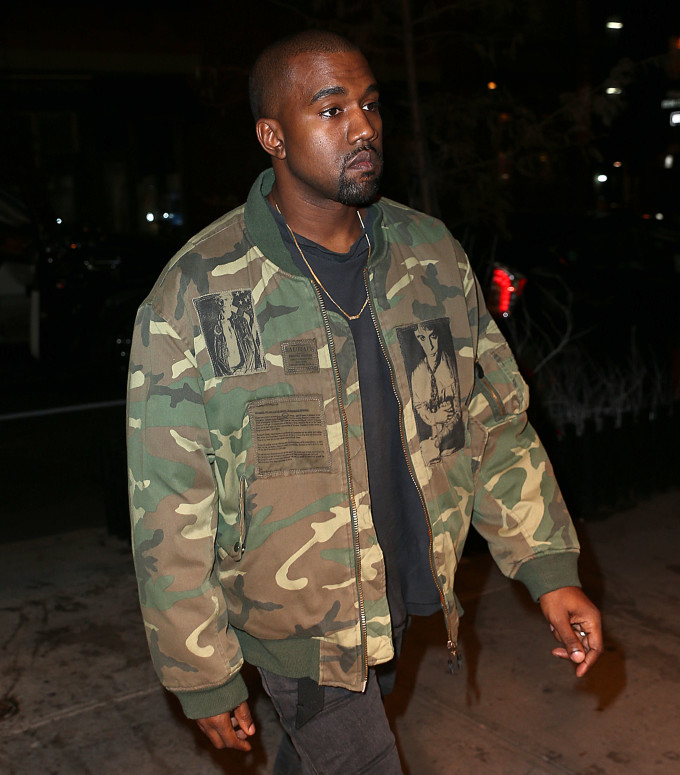 29933e245 Kanye Rocked a Raf Simons Jacket From 2001 While Out With North in ...