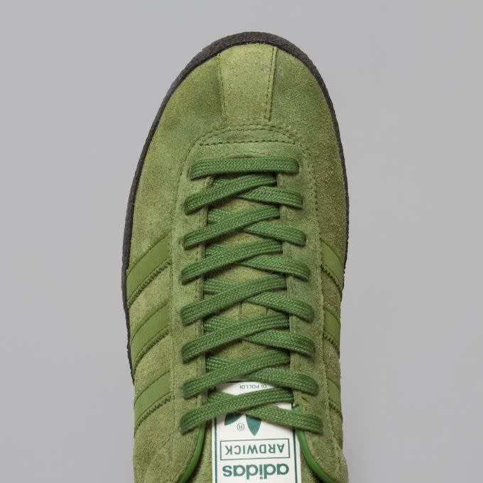 buy online 2d02e 779b5 Up next is a collab with adidas and Oi Polloi on an all-new silhouette the  Ardwick, a low-top, hairy green suede sneaker based off the adidas  California, ...