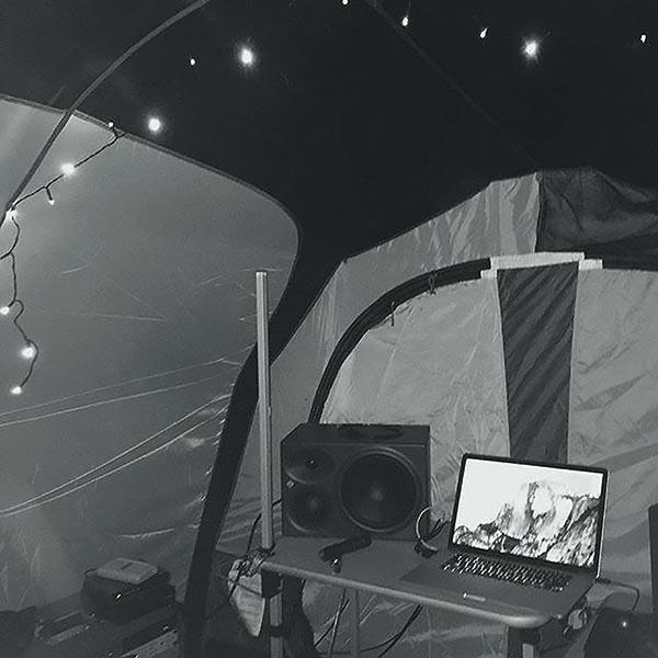 Zayn camping photo.