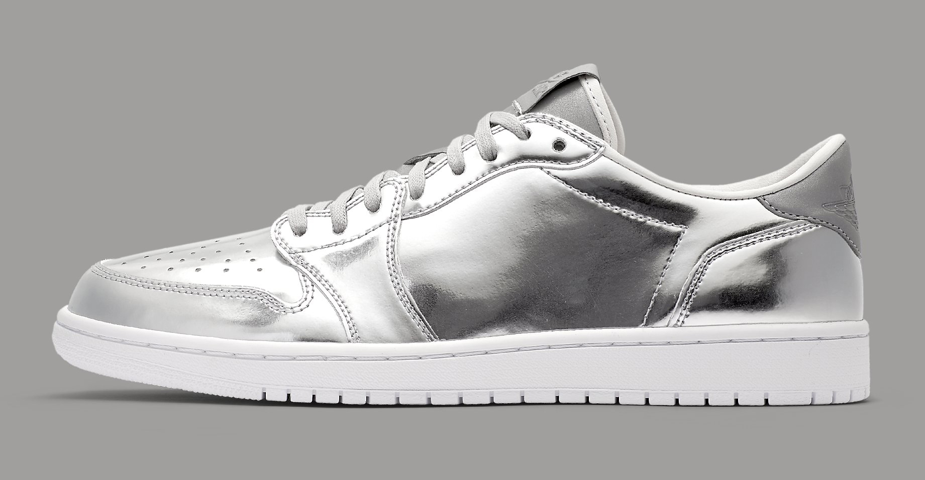 Silver Air Jordan 1 Low 852549-003 Profile