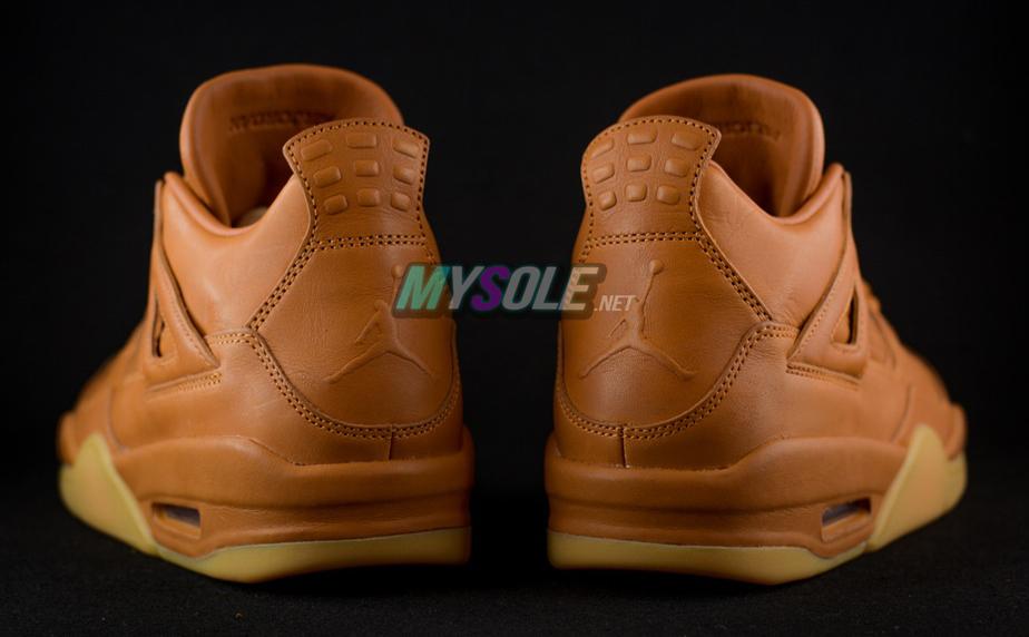 Wheat Jordan 4 819139-205 Heel