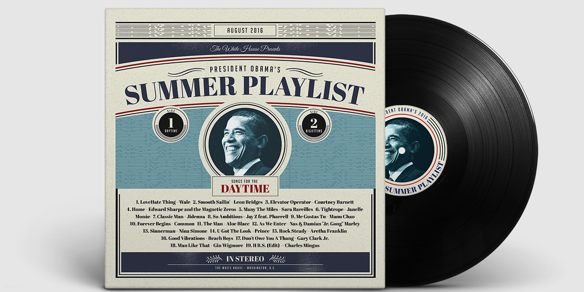 Obama Summer 2016 Playlist Daytime Cover