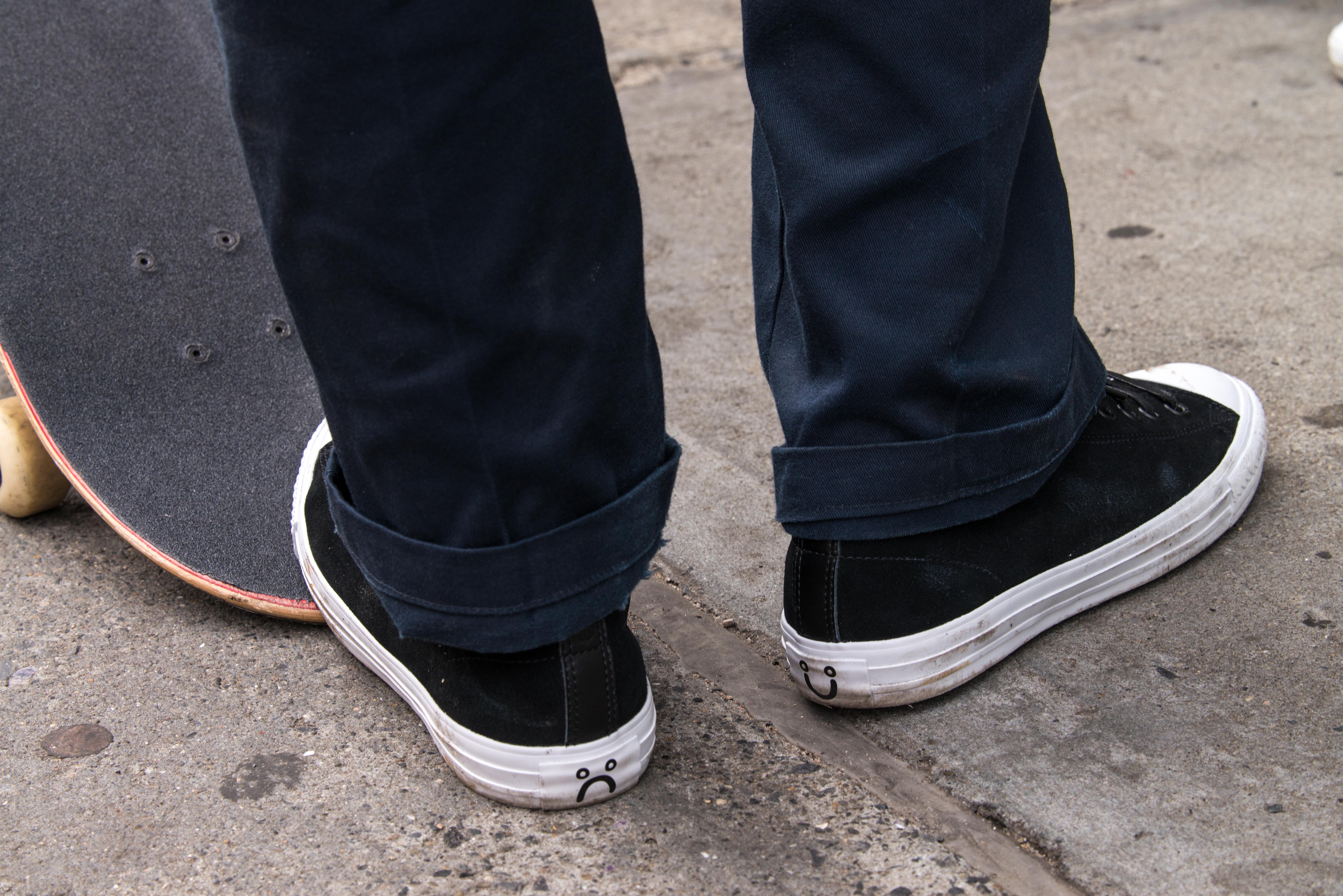 skating in converse