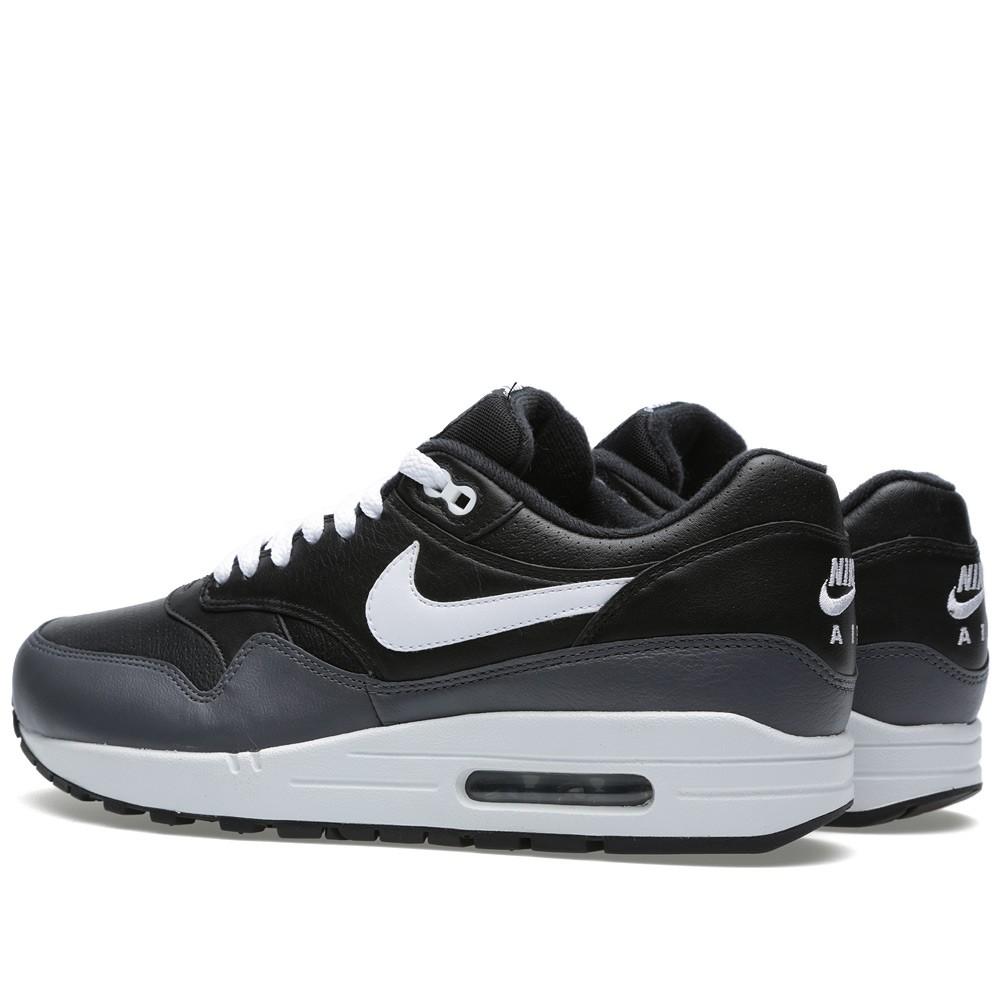 nike air max 1 black grey white