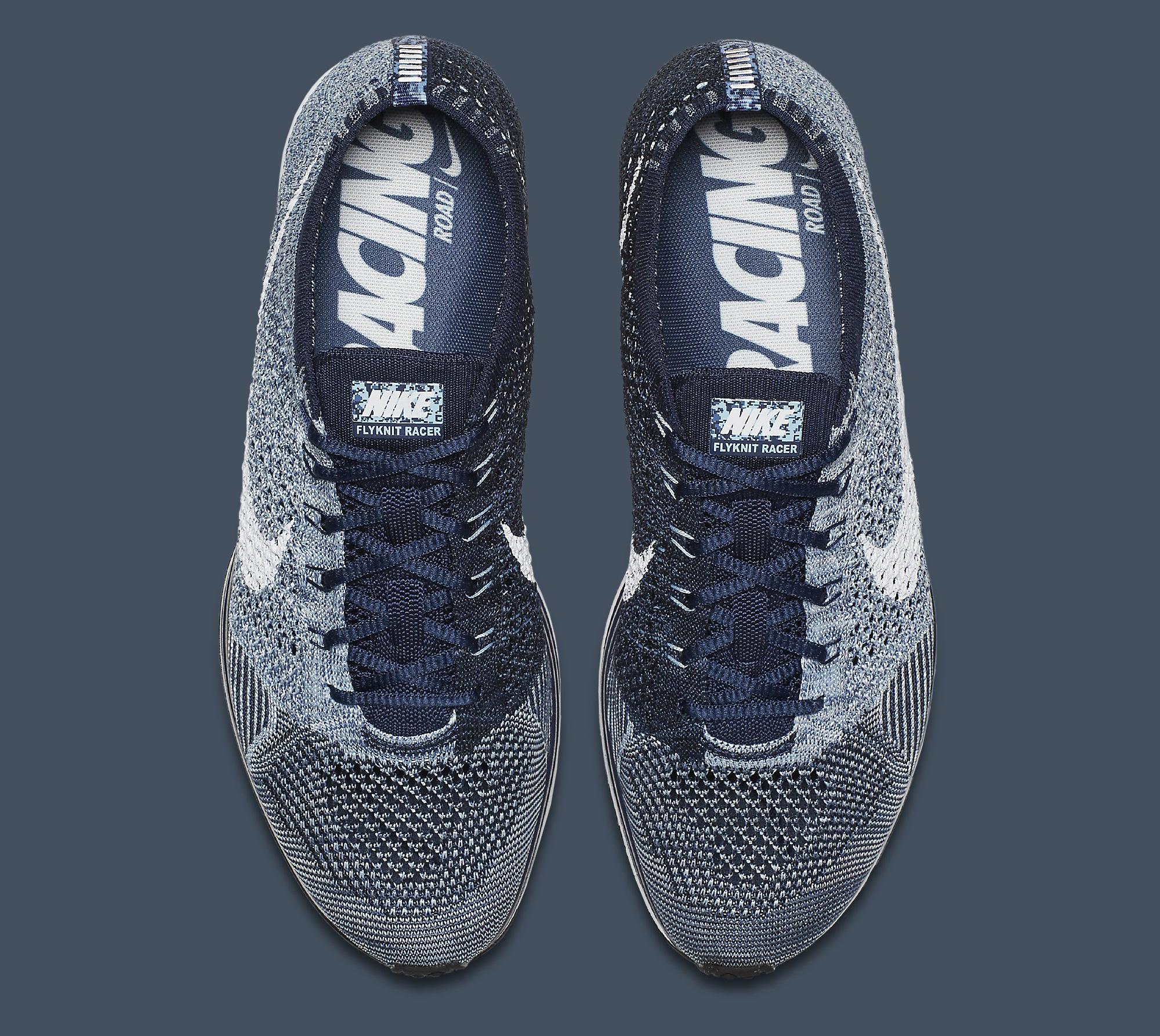 Nike Flyknit Racer Blue Tint White 862713-401 Top