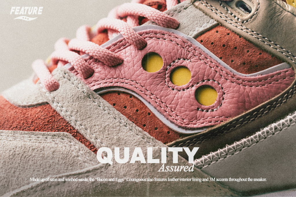 Feature Saucony Bacon and Eggs Detail