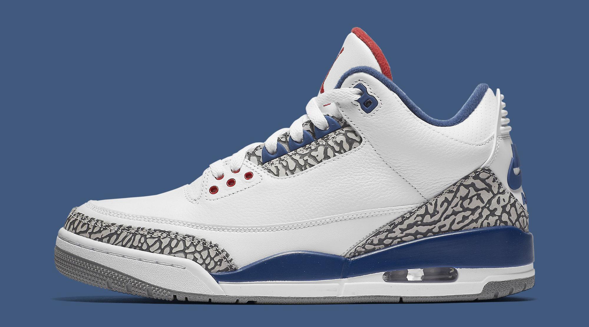 True Blue Air Jordan 3 854262-106 Profile
