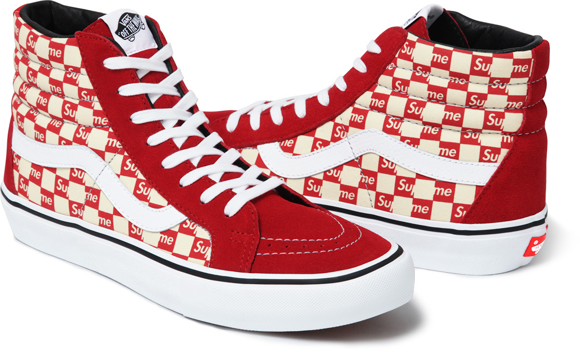Supreme Vans Checkerboard Red