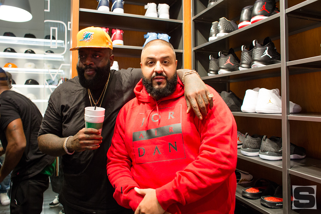 Rick Ross at DJ Khaled's Champs Sports Store