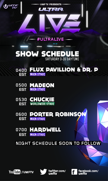 umf 2013 live stream day 2 schedule1 Stream the 2013 Ultra Music Festival, Day 2