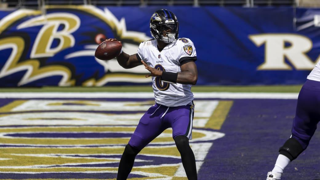 Lamar Jackson of the Baltimore Ravens