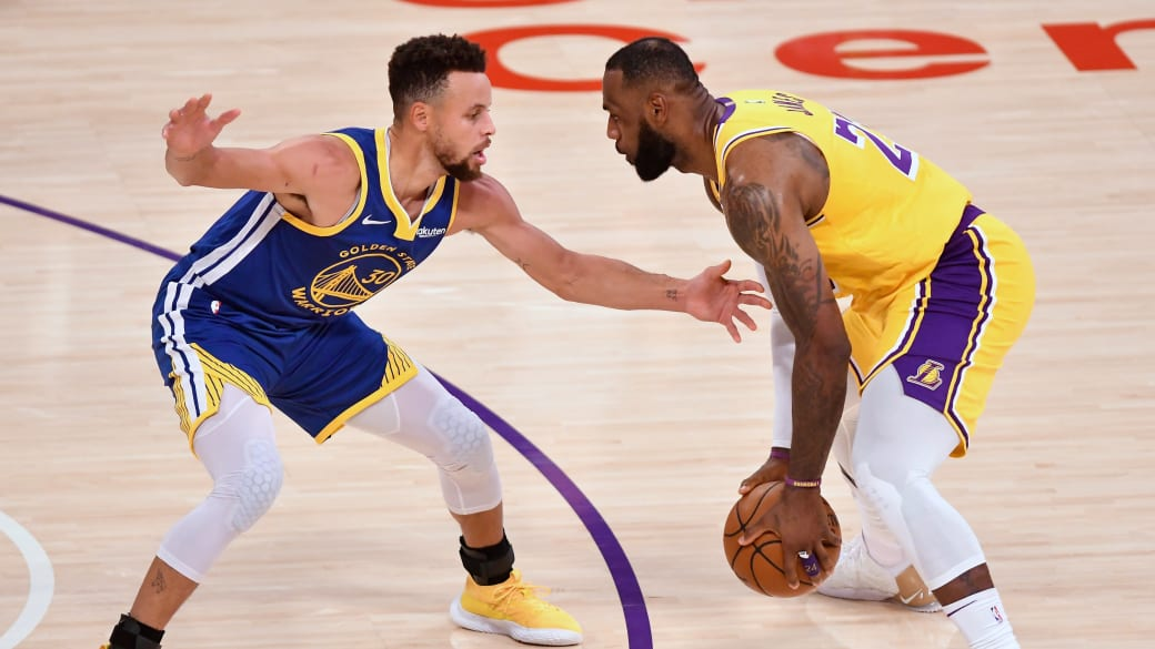 Steph Curry LeBron James Staples Center 2021