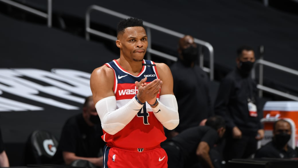 Russell Westbrook Clippers Wizards Clap 2021