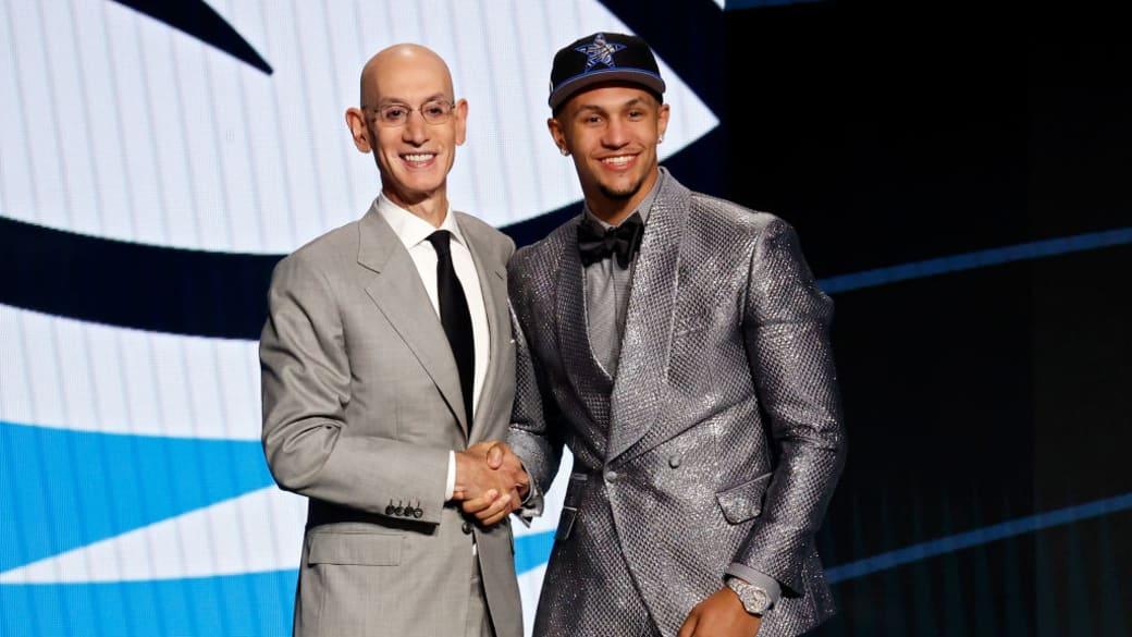 Adam Silver Jalen Suggs NBA Draft 2021