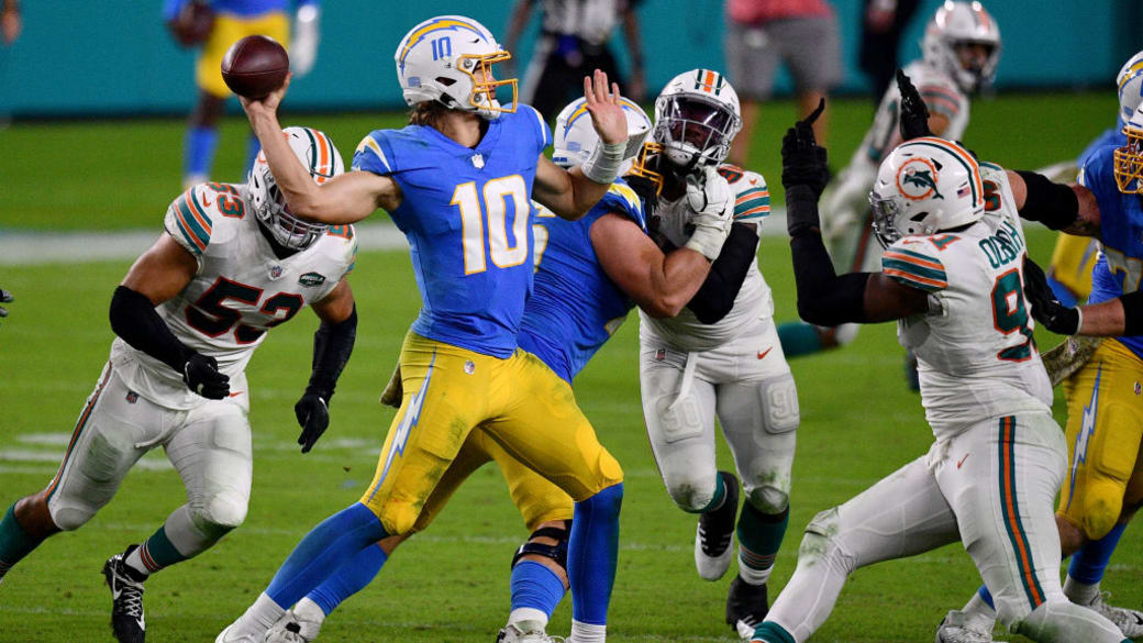 Justin Herbert Chargers Dolphins 2020