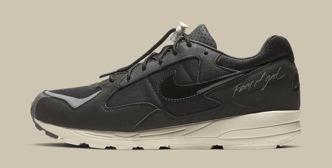 Fear of God x Nike Air Skylon 2 'Black/Sail-Fossil' BQ2752-001 (Lateral)