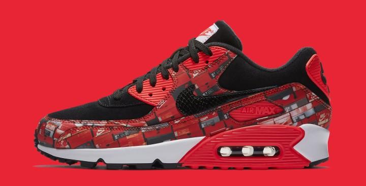 detailed pictures 543e7 611bb Atmos x Nike Air Max 90 'Infrared/We Love Nike' AQ0926-001