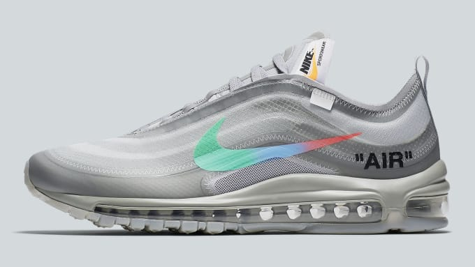 0c9a39fa4dae Off-White x Nike Air Max 97 Off-White Wolf Grey White Menta Release